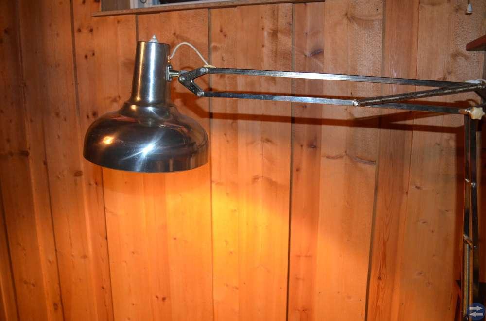 50-tals skrivbordslampa i mässing