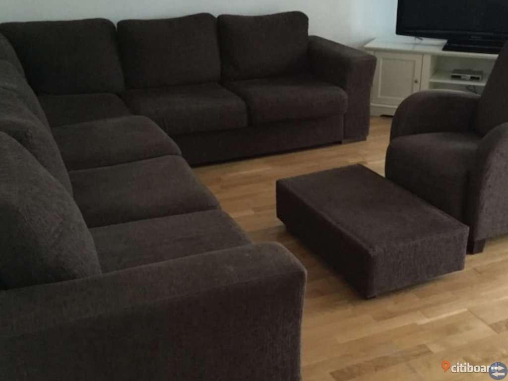 Möbler  soffa och fåtölj