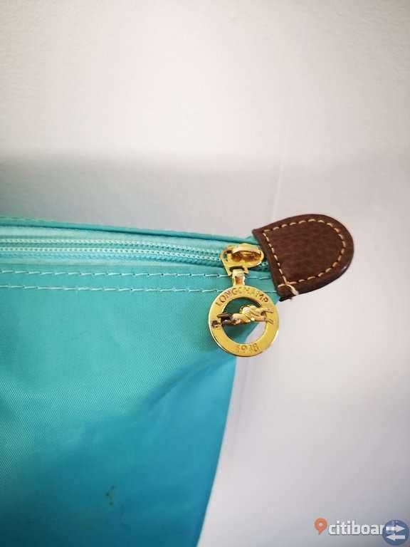 Longchamp väska turkos
