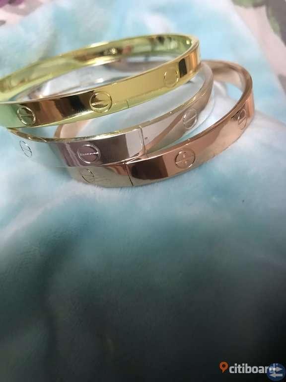 Armband 3 färger silve gold och råsa
