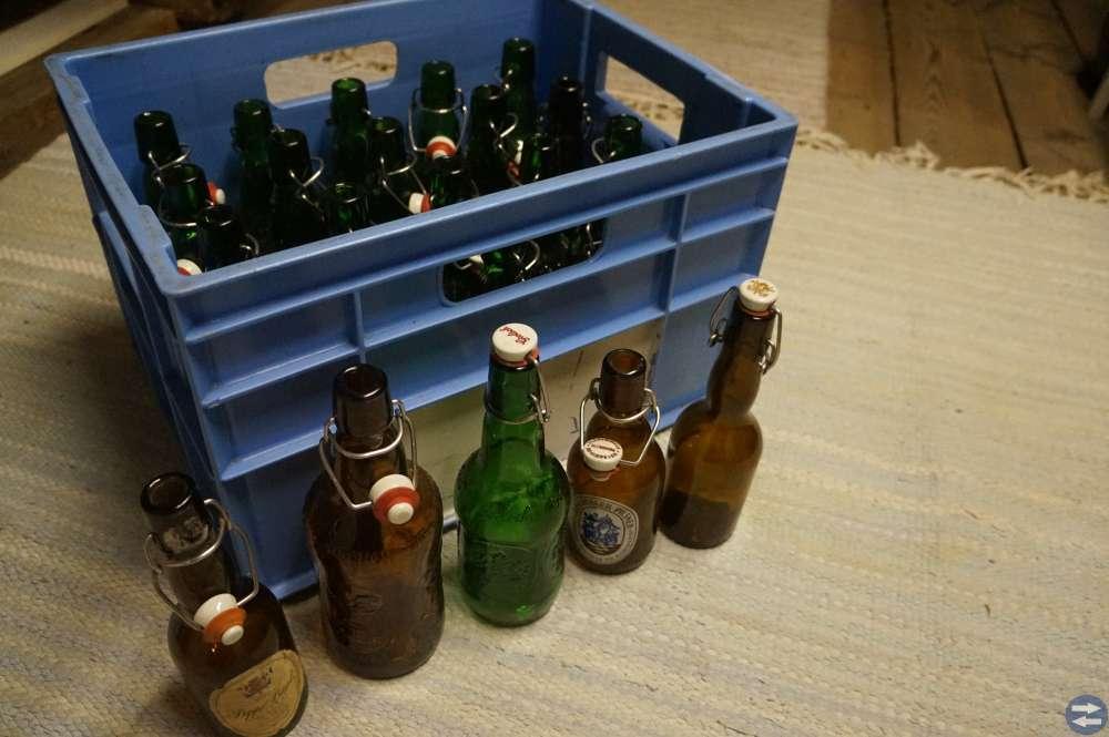 Flaskor m patentkork