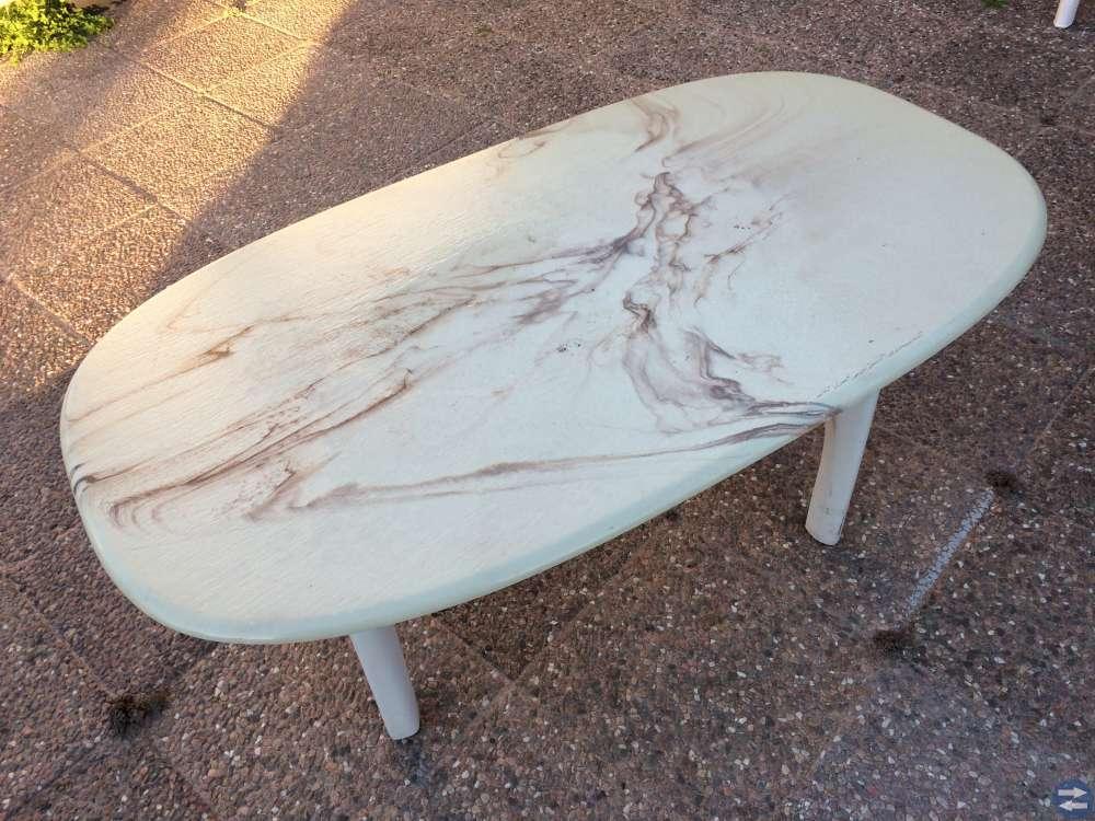 Marmorbord soffbord 135x75 cm