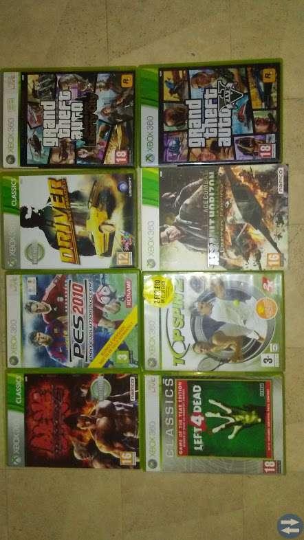 8 stycken Xbox 360 Spel och ett Wii U spel