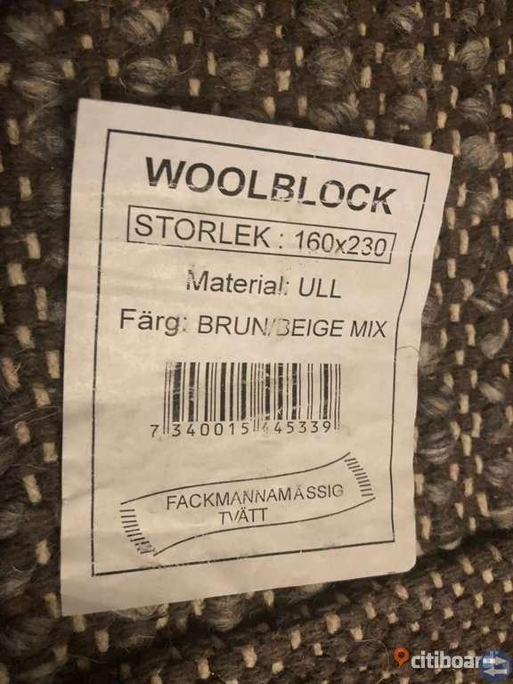 Woolblock Matta 160X230 Brun/Beige