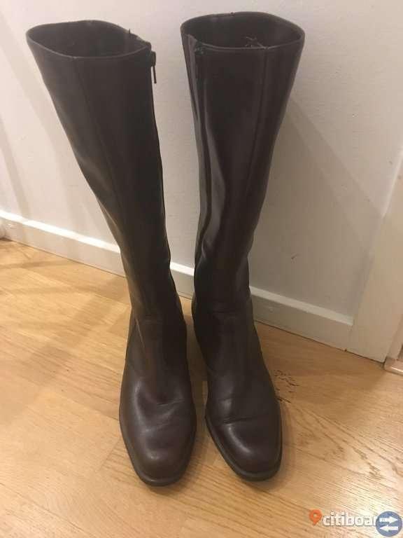 Supernygga bruna stövlar, läder,marke, Pertti Palmroth made in Finland st 41