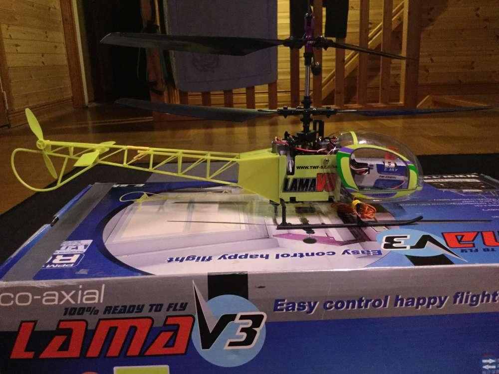 Radiostyrd helikopter, Lama V3 säljes
