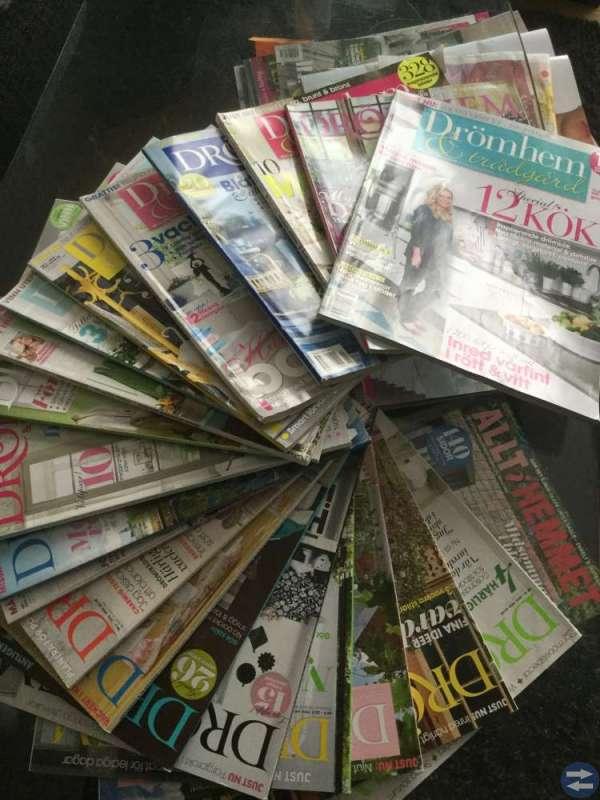 Säljer inrednings tidningar