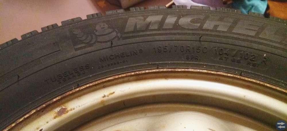 Michelin dubbdäck med fälg