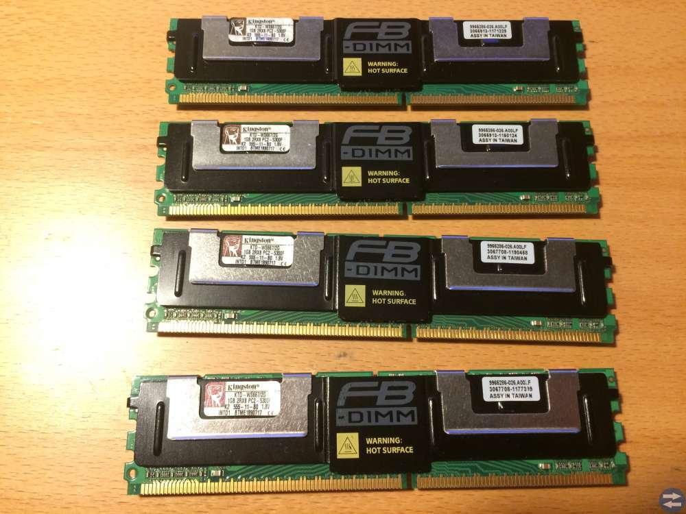 Serverminnen Kingston KTD-WS667 4 stycken