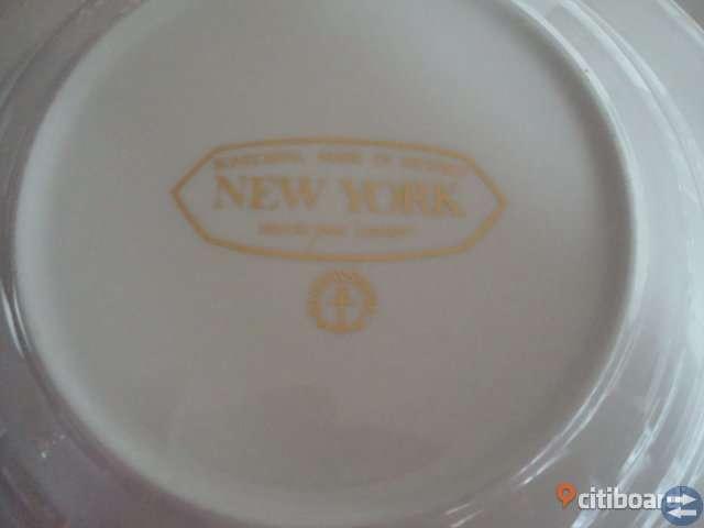 4 ST GUSTAVSBERG NEW YORK  DJUPA TALLRIKAR  D 23,5 CM