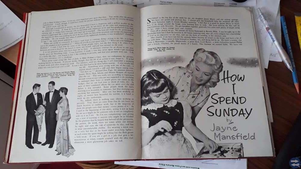 Bok om kända Hollywoodfilmstjärnor på 50-talet.