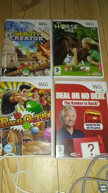 Nintendo Wii med fyra spel