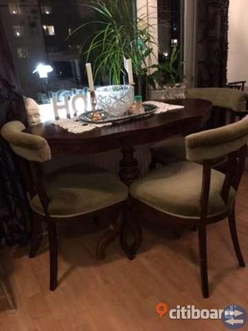 Bord och 3 stolar