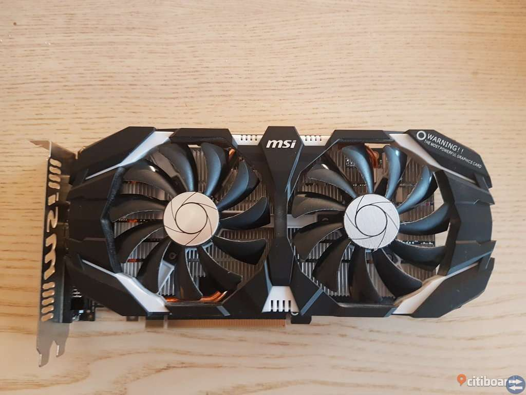 MSI GTX 1060 OC 3GB
