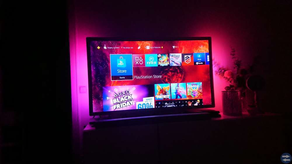 55tums Philips Ambilight Full HD 3D-tv
