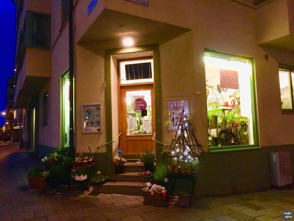 En väletablerade blomsterbutik.