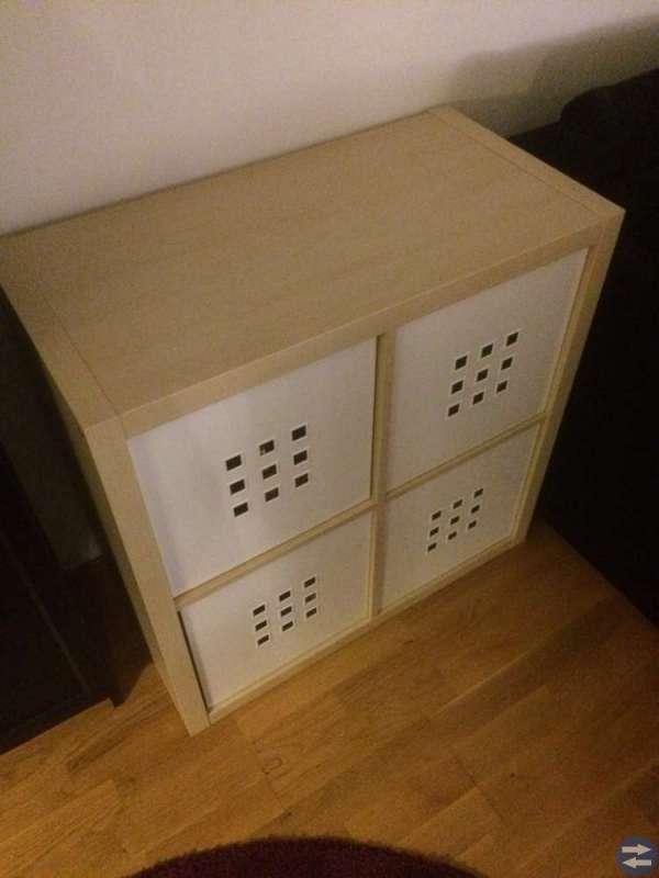 Ikea Kallax med 4 lådor