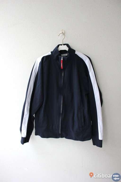 Jacka/tröja, zip, mörkblå, L