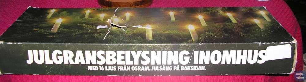 Julgransfot och -belysning
