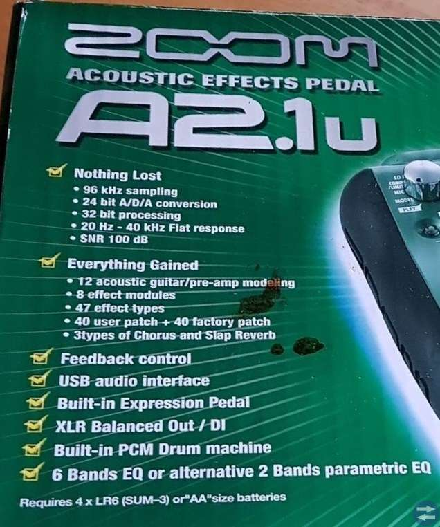 Acoustic Effects Pedal A2.1u
