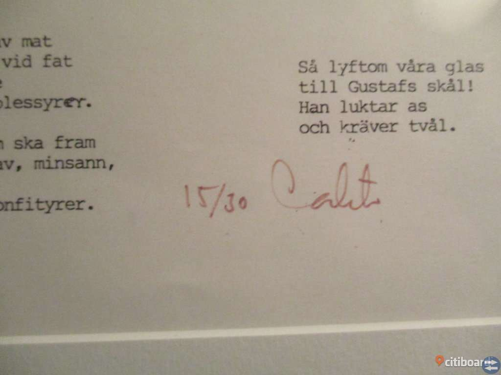 Carlstens Kungar. Tavla signerad. Adolf Fredrik & Gustaf III