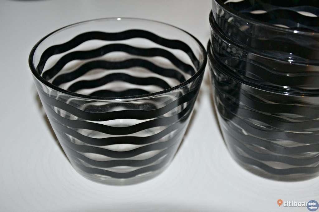 4 mönstrade skålar