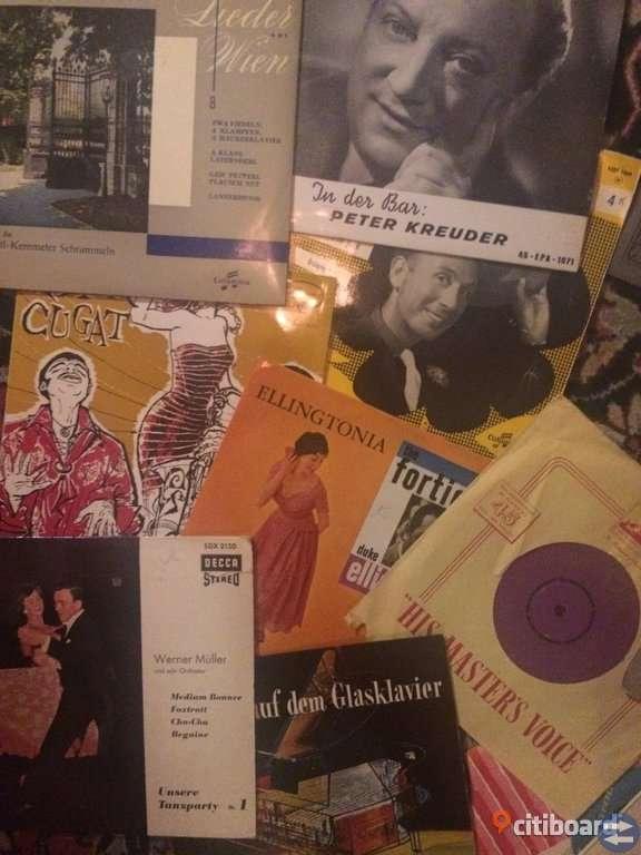 19 blandade EP-skivor från 1950-1960-talen