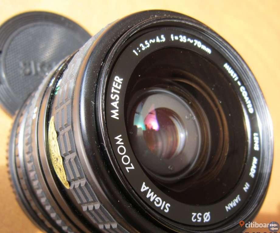 Sigma vidvinkelobjektiv till Canon T70
