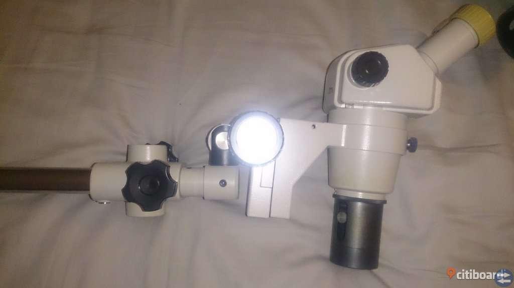 Mikroskop Nikon SMZ-1B med fot och optisk ljuskälla
