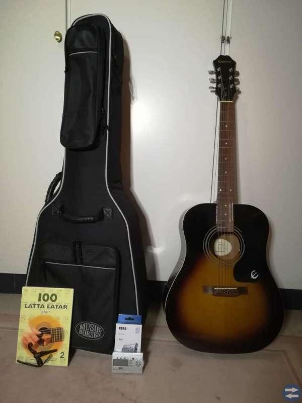 Akustisk gitarr Epiphone DR-100 VS stålsträngad