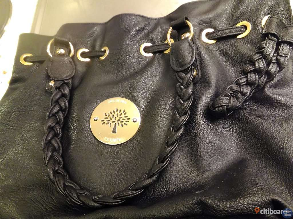 MULBERRY Daria drawstring  Black Large