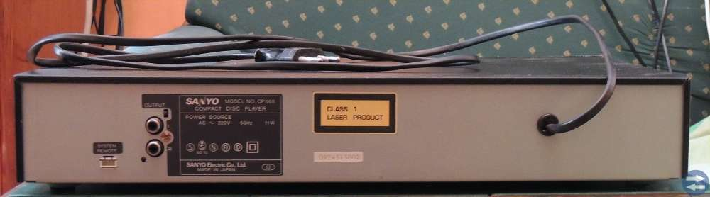Sanyo 868 CD-spelare