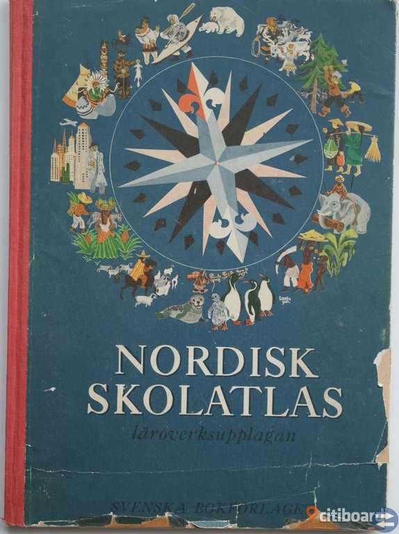 BOK Nordisk Skolatlas. 44 kr