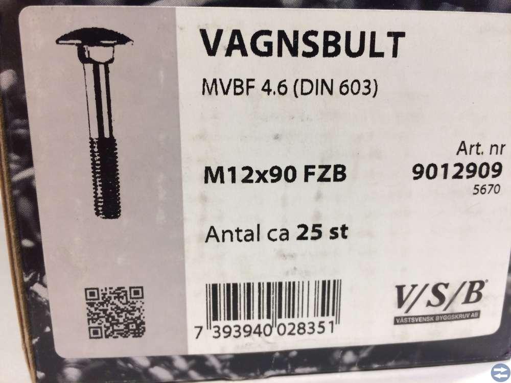 Vagnsbult M12x90 ca 25st (9012909)
