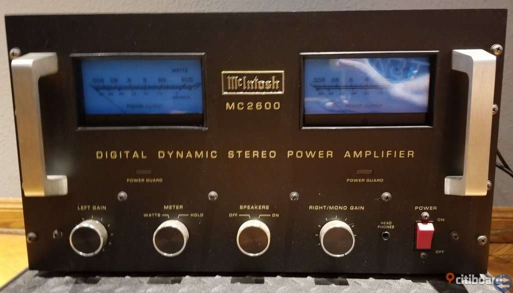 Förstärkare McInTosh MC-2600 LED/1200 W