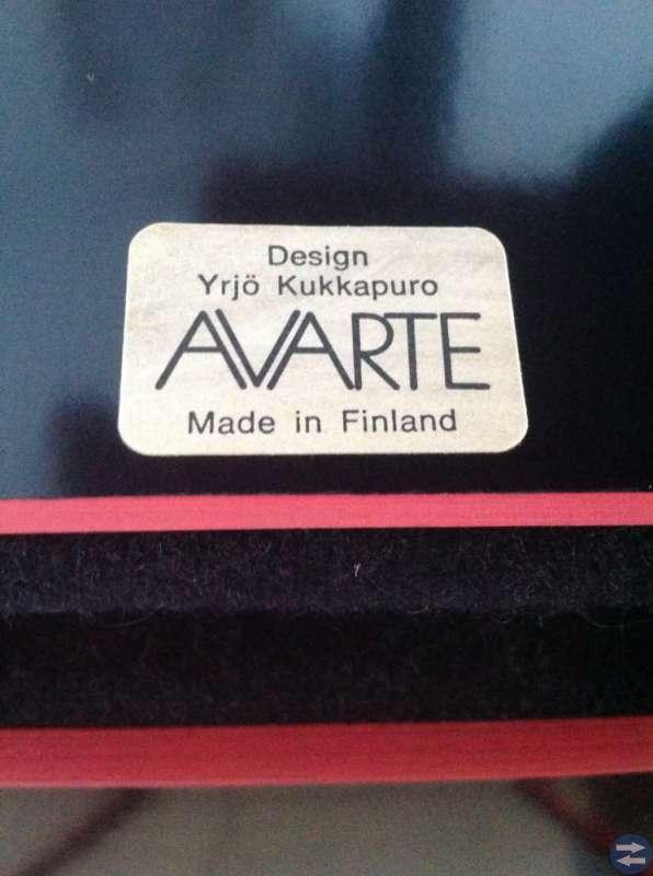 Stolar från Avarte, Yrjö Kukkapuro 1980-tal