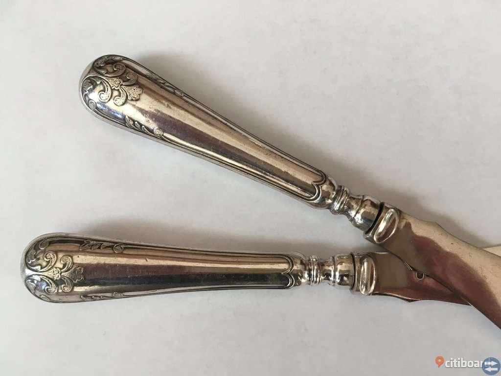"""Fina gamla knivar med silverstämpel """" Gammel Fransk"""""""
