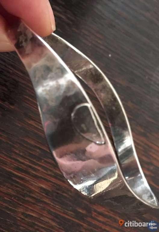 Äkta silverarmband Blå Smedjan