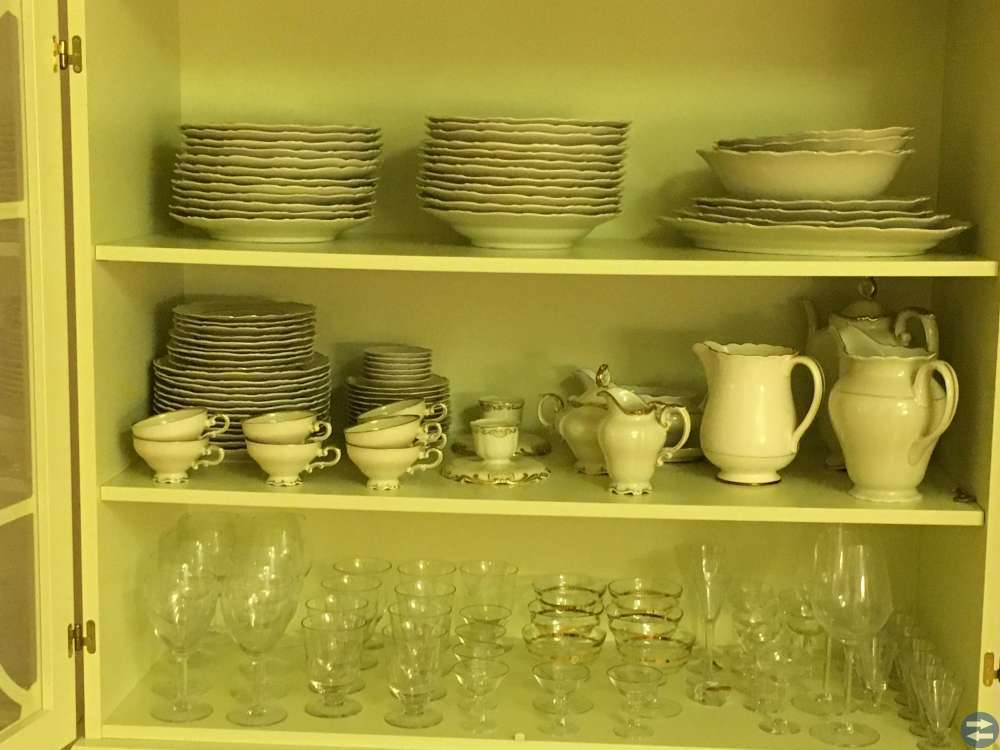Mat- och kaffeservis Karlskrona
