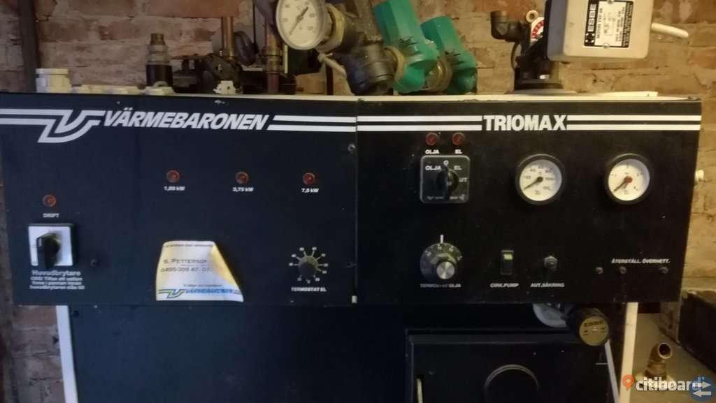 Vedpanna och acc tank Värmebaronen Triomax Gratis!