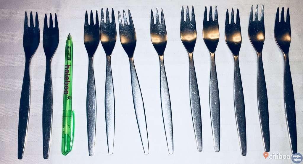Bestick Focus de luxe steel gafflar knivar skedar 50-tal