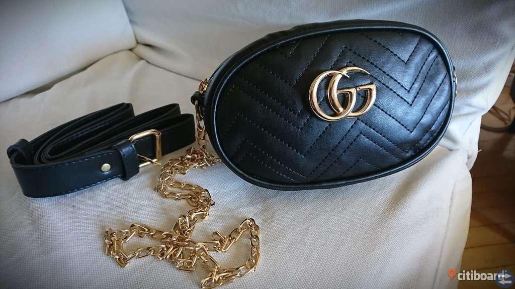 Trendig handväska/belt bag black