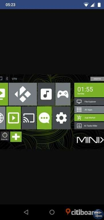 Minix Android TV channels box