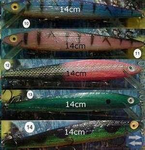 Wobblers i olika färger och vikter (nya)