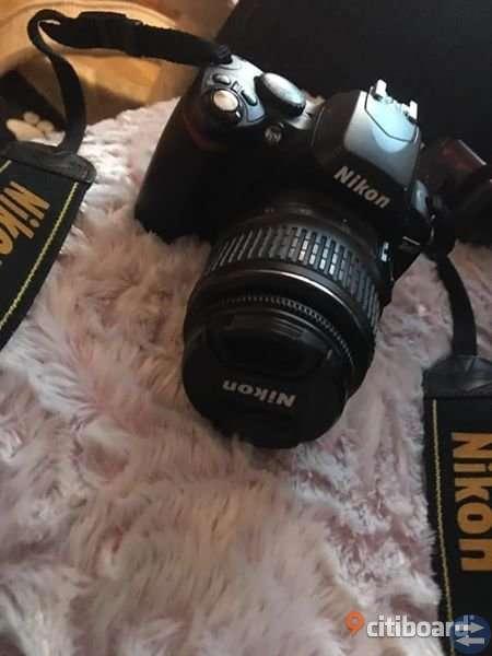 Nikon D40 med tillbehör