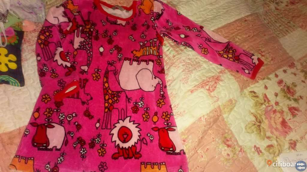 Lindex plysch klänning stl 116