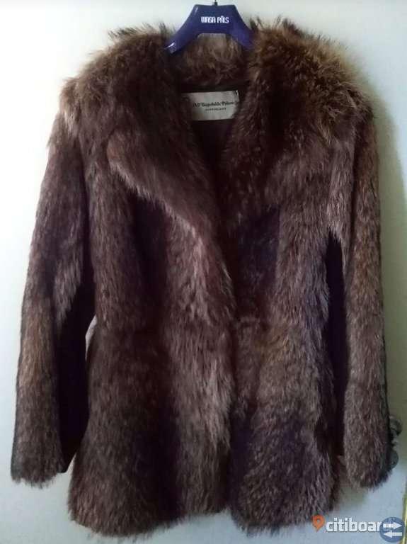 Äkta Vintage Pälsjacka