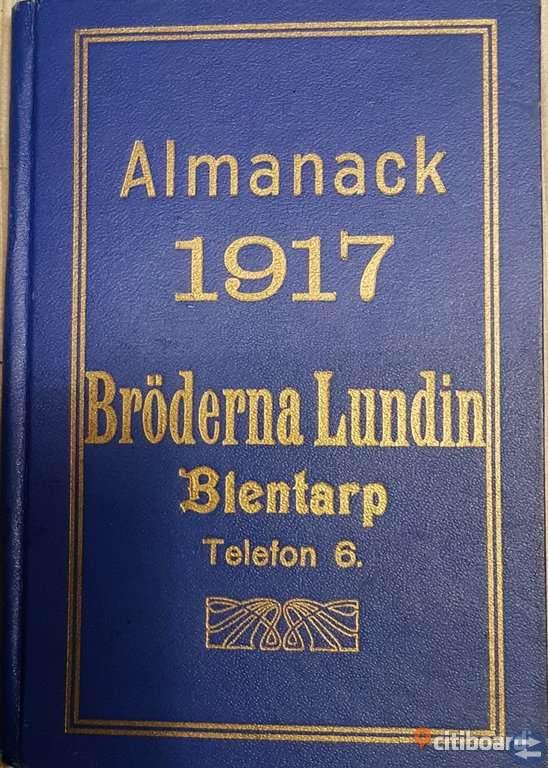 ALMANACK FRÅN 1917 för samlare