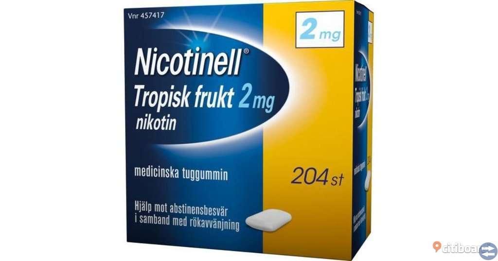 Nicotinell tugummi och sugtabletter