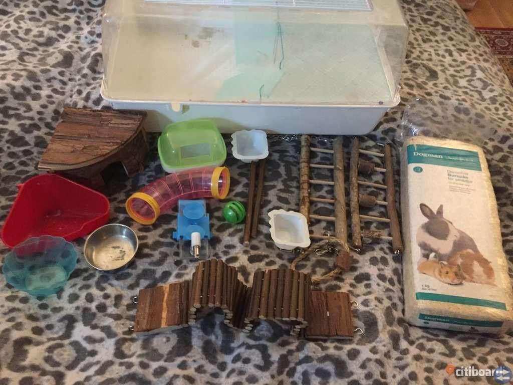 Hamsterbur med tillbehör